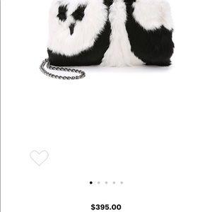 New Authentic Alice + Olivia fur panda bag
